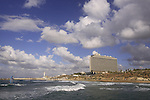 Israel, Tel Aviv-Yafo, Hilton hotel overlooking the Mediterranean sea