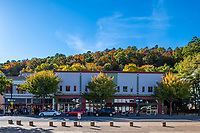 Hot Springs Central Ave - The downtown part of Hot springs with the fall color in the background. This was across the street from the bathhouses row a popular tourist attraction.