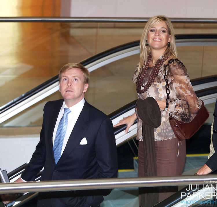 Crown Prince Willem-Alexander & Crown Princess Maxima of the Netherlands six-day tour of Australia..Launch of an Aboriginal Art Project at the Art Gallery of New South Wales, in Sydney..