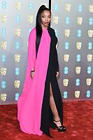 Naomie Akie<br /> arriving for the BAFTA Film Awards 2019 at the Royal Albert Hall, London<br /> <br /> ©Ash Knotek  D3478  10/02/2019