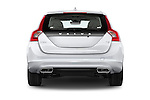 Straight rear view of 2017 Volvo V60 T5 5 Door Wagon Rear View  stock images