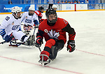 Pyeongchang, Korea, 18/3/2018- Ben Delaney compete in the gold medal ice game against the USA during the 2018 Paralympic Games. Photo: Scott Grant/Canadian Paralympic Committee.