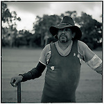 JULY 1995    -  Queensland, Australia   - An aboriginal works on a  Sugar Cane Farm off the Cook Highway. .