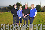 Pictured at the Abbeyfeale Golf Club captains run were Kim Mullens and James Ward, centre with honoury secrataries Kevin McMahon and Mags O'Riordan Wall last Sunday morning in Abbeyfeale.