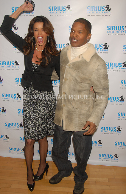 WWW.ACEPIXS.COM . . . . . ....January 23rd, 2007, New York City. ....Jamie Foxx and Janice Dickinson Attend the Launching of Exclusive Urban Comedy, an Entertainment and Life Style Channel on Sirius Satellite Radio at Sirius Satellite Radio Studios. ....Please byline: KRISTIN CALLAHAN - ACEPIXS.COM.. . . . . . ..Ace Pictures, Inc:  ..(212) 243-8787 or (646) 769 0430..e-mail: info@acepixs.com..web: http://www.acepixs.com