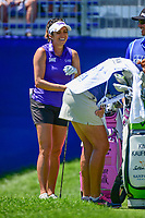 Gerina Piller (USA) has a laugh on the first tee before  Sunday's final round of the 2017 KPMG Women's PGA Championship, at Olympia Fields Country Club, Olympia Fields, Illinois. 7/2/2017.<br /> Picture: Golffile | Ken Murray<br /> <br /> <br /> All photo usage must carry mandatory copyright credit (&copy; Golffile | Ken Murray)
