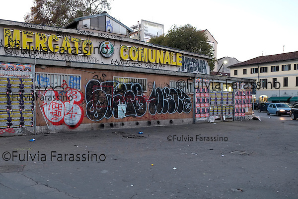 Milano, 2 dicembre 2013 Lavori in corso sulla Darsena. <br /> Work in progress