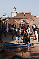 Afrique/Afrique du Nord/Maroc/Essaouira: Scène de rue de la médina