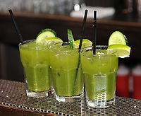 Bartender Liliana Barbour (NOT SHOWN) of Philadelphia makes three Bleeding Green Bloody Marys as Philadelphia Eagles fans enjoy brunch at Pub & Kitchen Sunday, February 04, 2018 in Philadelphia, Pennsylvania. The pub added Bleeding Green Bloody Marys and Crispy Fried Brady Chicken to the menu. WILLIAM THOMAS CAIN / For The Inquirer