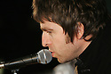 Noel Gallagher kisses the mic before a press conference inside Slane Castle, after it was announced that Oasis will be playing there Saturday June 20th, 2009. (Subject to License). Photo/Paul McErlane
