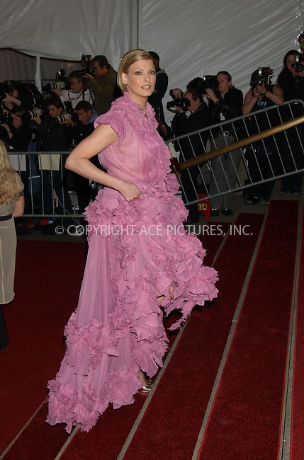 """WWW.ACEPIXS.COM . . . . .....May 1 2006, New York City.........Linda Evangelista....The """"Anglomania"""" themed Annual Costume Gala at the Metropolitan Museum of Art on the Upper East Side of Manhattan.  ....Please byline: Kristin Callahan - ACEPIXS.COM..... *** ***..Ace Pictures, Inc:  ..Philip Vaughan (212) 243-8787 or (646) 769 0430..e-mail: info@acepixs.com..web: http://www.acepixs.com"""