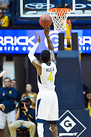 Morgantown, WV - NOV 18, 2017: West Virginia Mountaineers guard Daxter Miles Jr. (4) hits from the free throw line during game between West Virginia and Morgan State at WVU Coliseum Morgantown, West Virginia. (Photo by Phil Peters/Media Images International)