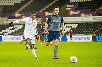 Jordon Garrick of Swansea City in action during the Checkatrade 2rd round match between Swansea City U21's and Charlton Athletic at the Liberty Stadium, Swansea on Tuesday December 05 2017