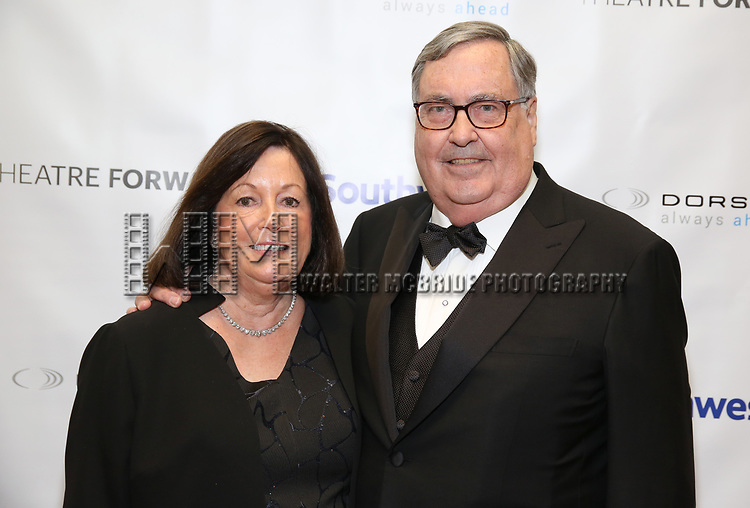Pamela Farr and Buford Alexander during a reception for Theatre Forward's Chairman's Awards Gala at the Pierre Hotel on April 8, 2019 in New York City.