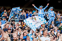 Coventry City supporters celebrate the teams win at full time during the The Checkatrade Trophy / EFL Trophy FINAL match between Oxford United and Coventry City at Wembley Stadium, London, England on 2 April 2017. Photo by Andy Rowland.