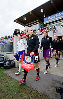Rachel Buehler, Homare Sawa. The USWNT defeated Japan, 2-0,  at WakeMed Soccer Park in Cary, NC.