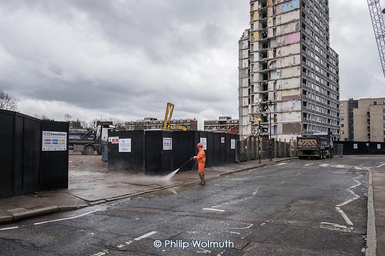 Demolition of  Gloucester House, South Kilburn Estate.