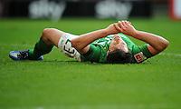 FUSSBALL   1. BUNDESLIGA   SAISON 2011/2012   27. SPIELTAG SV Werder Bremen - FC Augsburg                        24.03.2012 Zlatko Junuzovic (SV Werder Bremen) ist enttaeuscht