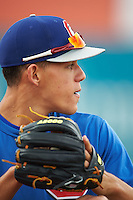 Chattanooga Lookouts pitcher Jose Berrios (25) during practice before a game against the Jacksonville Suns on April 30, 2015 at AT&T Field in Chattanooga, Tennessee.  Jacksonville defeated Chattanooga 6-4.  (Mike Janes/Four Seam Images)