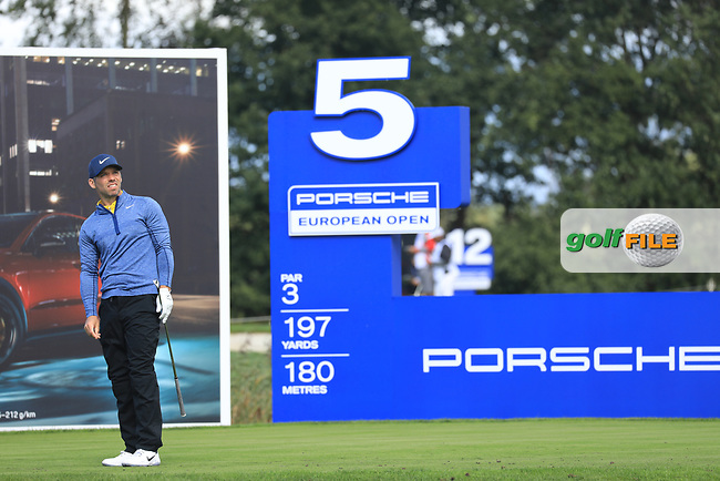 Paul Casey (ENG) on the 5th tee during the 1st round at the Porsche European Open, Green Eagles Golf Club, Luhdorf, Winsen, Germany. 05/09/2019.<br /> Picture Phil Inglis / Golffile.ie<br /> <br /> All photo usage must carry mandatory copyright credit (© Golffile | Phil Inglis)