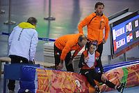 OLYMPICS: SOCHI: Adler Arena, 09-02-2014, 3000 m Ladies, Ireen Wüst (NED), Gerard Kemker, ©foto Martin de Jong