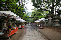 Kotohira, or Konpira-san, is one of Kagawa's most famous sites, with hundreds of steps leading up the mountain to a series of shrines.