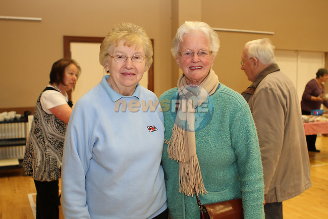 Pat McIlreavy and Helen Baird at the Lifeboat Coffee Morning and Cake Sale in St.Peters Parish Rooms..(Photo credit should read Jenny Matthews/NEWSFILE)...