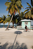BELIZE, Caye Caulker, main street in the afternoon