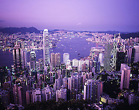 Hong Kong as seen from Victoria Peak.