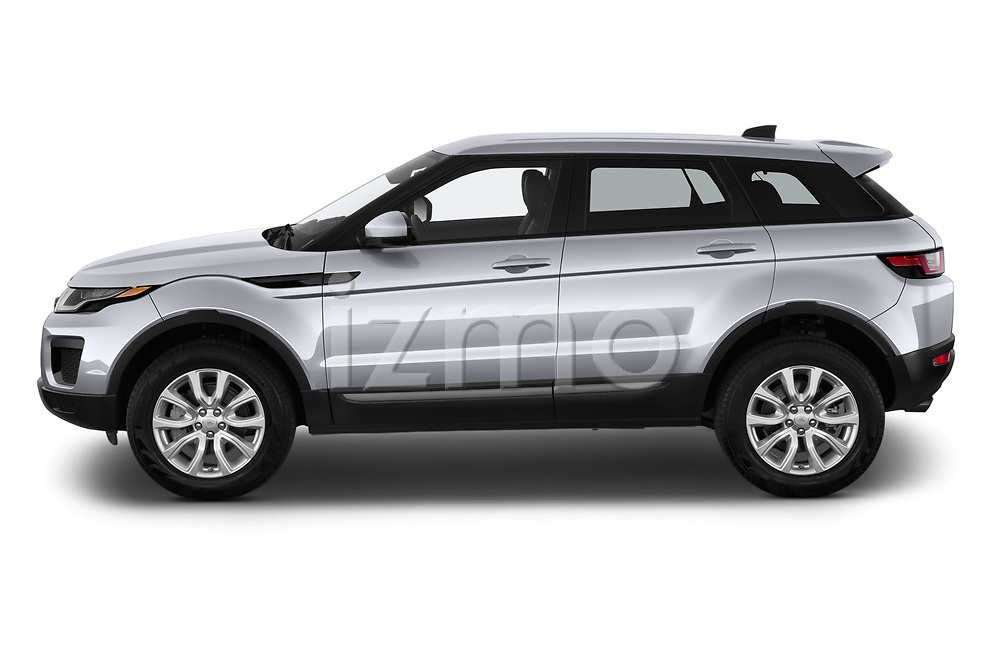 Car Driver side profile view of a 2019 Land Rover Range-Rover-Evoque SE 5 Door SUV Side View