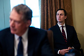 Jared Kushner, senior White House adviser, listens as U.S. President Donald Trump speaks during a cabinet meeting in the Cabinet Room of the White House, on Wednesday, Jan. 2, 2019 in Washington, D.C.<br /> Credit: Al Drago / Pool via CNP