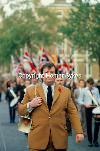 MARTIN WEBSTER, NATIONAL FRONT MARCH DOWN WHITEHALL TO THE CENOTAPH LONDON 1980
