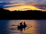 Traditional fishers hunt for dinner, Iris Strait, near Kaimana, Papua.
