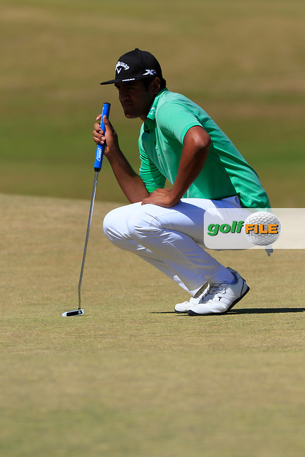 Tony Finau (USA) at the 6th green during Sunday's Final Round of the 2015 U.S. Open 115th National Championship held at Chambers Bay, Seattle, Washington, USA. 6/21/2015.<br /> Picture: Golffile | Eoin Clarke<br /> <br /> <br /> <br /> <br /> All photo usage must carry mandatory copyright credit (&copy; Golffile | Eoin Clarke)