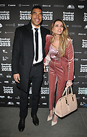 Jason Bell and Nadine Coyle at the Broadcast Awards 2018, Grosvenor House Hotel, Park Lane, London, England, UK, on Wednesday 07 February 2018.<br /> CAP/CAN<br /> &copy;CAN/Capital Pictures