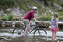 24/08/14 <br /> <br /> With poor Bank Holiday Monday weather forecast for tomorrow, tourists flock to Stepping Stones at Dovedale, Derbyshire, to enjoy a day out in the Peak District <br /> <br /> All Rights Reserved: F Stop Press Ltd. +44(0)1335 300098   www.fstoppress.com.