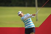 Amy Yang (USA) in action on the 16th during Round 1 of the HSBC Womens Champions 2018 at Sentosa Golf Club on the Thursday 1st March 2018.<br /> Picture:  Thos Caffrey / www.golffile.ie<br /> <br /> All photo usage must carry mandatory copyright credit (&copy; Golffile | Thos Caffrey)
