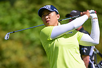 Amy Yang (KOR) watches her tee shot on 11 during round 1 of  the Volunteers of America Texas Shootout Presented by JTBC, at the Las Colinas Country Club in Irving, Texas, USA. 4/27/2017.<br /> Picture: Golffile | Ken Murray<br /> <br /> <br /> All photo usage must carry mandatory copyright credit (&copy; Golffile | Ken Murray)