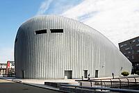 Nederland Almere  2017 . De vroegere Popzaal van Almere. Tegenwoordig een Casino. Het gebouw is ontworpen door William Alsop. Foto Berlinda van Dam / Hollandse Hoogte