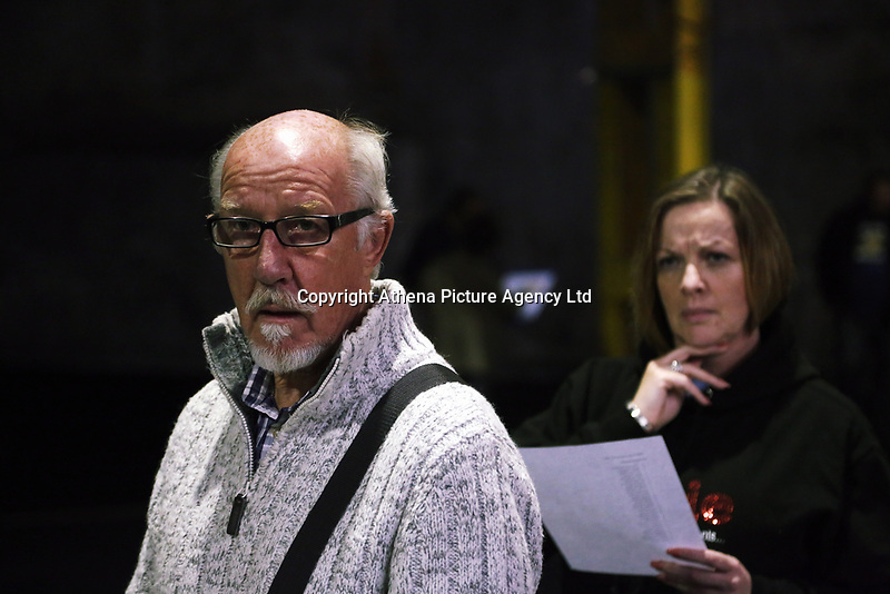 """""""We Are Still Here"""" rehearsal by the National Theatre Wales, in Port Talbot, Wales, UK. Thursday 24 August 2017"""