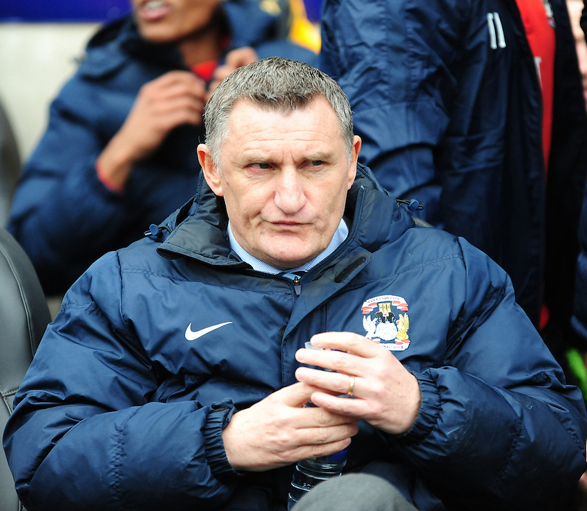 Coventry City manager Tony Mowbray <br /> <br /> Photographer Andrew Vaughan/CameraSport<br /> <br /> Football - Vanarama National League - Lincoln City v Southport - Saturday 20th February 2016 - Sincil Bank - Lincoln<br /> <br /> &copy; CameraSport - 43 Linden Ave. Countesthorpe. Leicester. England. LE8 5PG - Tel: +44 (0) 116 277 4147 - admin@camerasport.com - www.camerasport.com