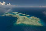 Aerial - reefs found between Yadua Island and Vanua Levu mainland.