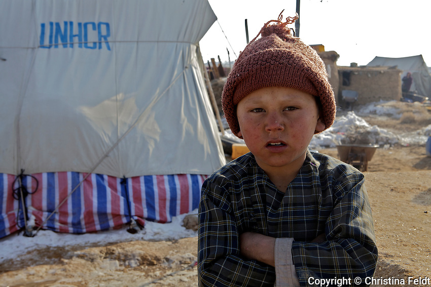 Young boy of Qalin Bafan Returnee Site.