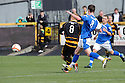 Ryan McCord scores Alloa's first.