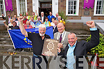 Tralee tidy towns volunteers celebrate the Entente Florale gold award on Tuesday, in front are Johnny Wall, Chairman towards a better Tralee, Jim Finucane Mayor of Tralee, and Michael Scammell, head of community development Kerry County Council.