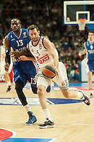 Real Madrid´s Rudy Fernandez and Anadolu Efes´s Stephane Lasme during 2014-15 Euroleague Basketball match between Real Madrid and Anadolu Efes at Palacio de los Deportes stadium in Madrid, Spain. December 18, 2014. (ALTERPHOTOS/Luis Fernandez) /NortePhoto /NortePhoto.com
