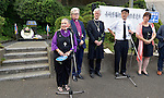 United Methodist Bishop Mary Ann Swenson, leading an ecumenical group of pilgrims from the World Council of Churches, addresses participants in a ceremony in Nagasaki, Japan, on August 9, 2015, commemorating the 70th anniversary of the killing of Korean forced laborers when the United States dropped an atomic bomb on that city. The Koreans had been brought to Japan to work as slaves during the war. The church in Japan has played a key role in addressing Japan's complicity in violence and murder during the war years. The WCC pilgrims came to Japan to see for themselves the results of the bombings 70 years ago, to listen to survivors and local church leaders, and to recommit themselves to new forms of advocacy for a world free of nuclear weapons.