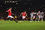 Robin van Persie of Manchester United scores his sides third goal - Manchester United vs. Burnley - Barclay's Premier League - Old Trafford - Manchester - 11/02/2015 Pic Philip Oldham/Sportimage