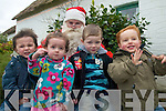 SANTA AT THE BOG: Some of the kids who met Santa Claus at the Day in the Bog, Kilflynn last Friday, l-r Daniel Kirwan, Niamh Healy, Cathal Russell, Euan O'Sullivan.   Copyright Kerry's Eye 2008