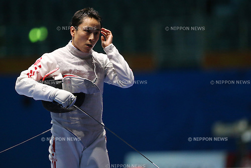 Yuki Ota (JPN),<br /> SEPTEMBER 25, 2014 - Fencing : <br /> Men's Team Foil Semi-Final <br /> at Goyang Gymnasium <br /> during the 2014 Incheon Asian Games in Incheon, South Korea. <br /> (Photo by Shingo Ito/AFLO SPORT)